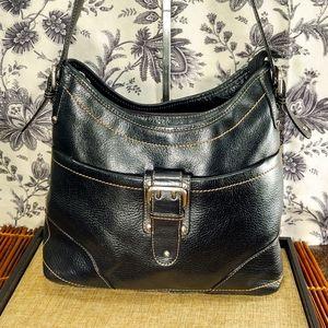 ETIENNE AIGNER Vintage Black Leather Shoulder Bag
